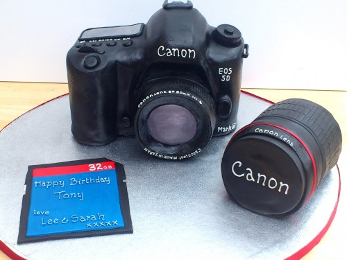 Canon EOS 5D Mark 3 Camera Novelty Cake