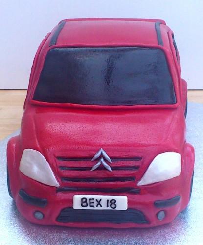 Citroen C3 Car Novelty Birthday Cake