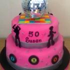 Disco Fever 2 Tier Novelty Cake
