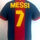 Messi Barcelona Football Shirt Novelty Cake