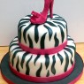 Pink Stiletto 2 Tier Novelty Cake thumbnail