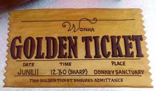 Willy Wonka Chocolate Bar Golden Ticket Oompa Loompas Novelty Cake