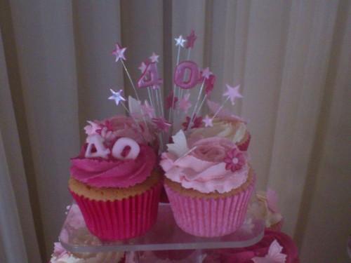 40th Birthday Cupcakes
