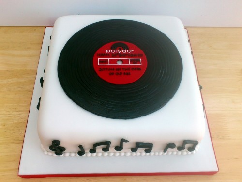 Old Record Novelty Birthday Cake