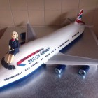 British Airways Jumbo Jet Novelty Cake