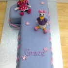 Disney Character Minnie Mouse Daisy Duck Themed Number One Birthday Cake