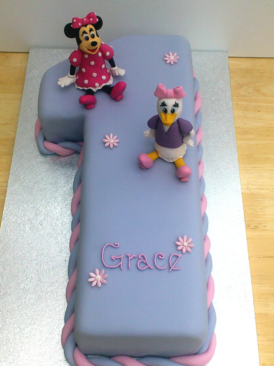 Remarkable Disney Themed Number One Birthday Cake Susies Cakes Personalised Birthday Cards Paralily Jamesorg