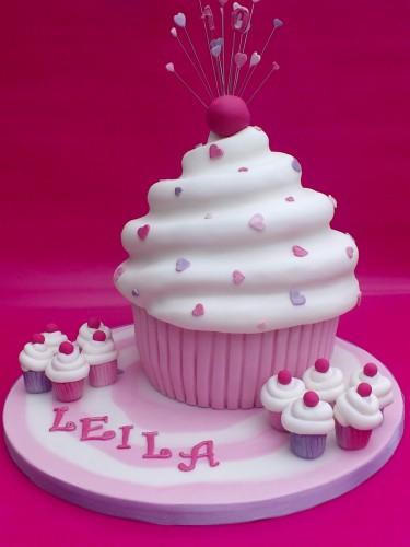 Giant Cupcake Novelty Birthday Cake
