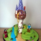 Rapunzel Tower Themed Birthday Cake