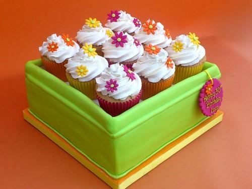 Tin Of Cupcakes Novelty Birthday Cake