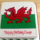 Welsh Flag Novelty Birthday Cake