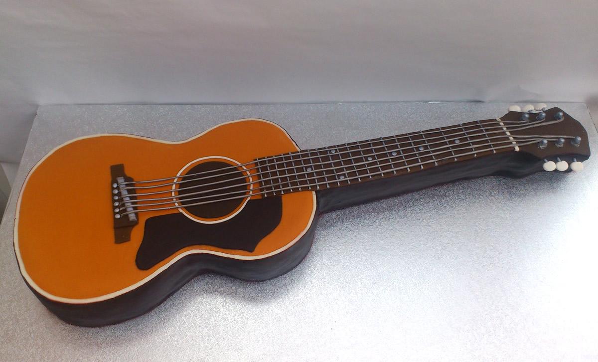 Acoustic Guitar Novelty Birthday Cake