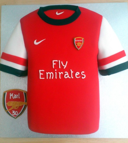 Arsenal Football Shirt Novelty Birthday Cake