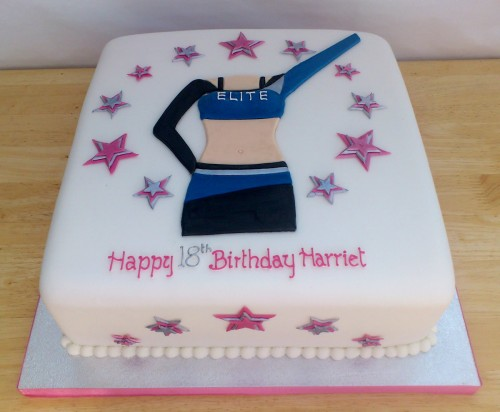 Bournemouth Elite Cheerleader Inspired Novelty Birthday Cake