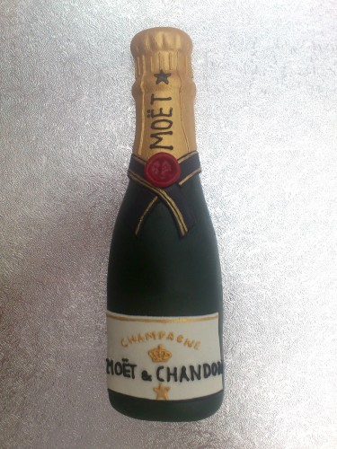 Champagne Bottle Cake Topper