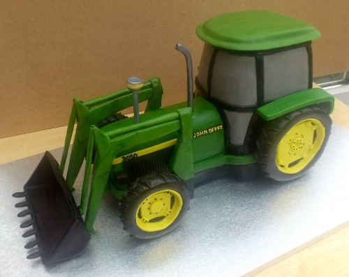 John Deere 3050 Tractor With Digger Novelty Birthday Cake