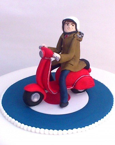 Mod Vespa Theme Novelty Birthday Cake