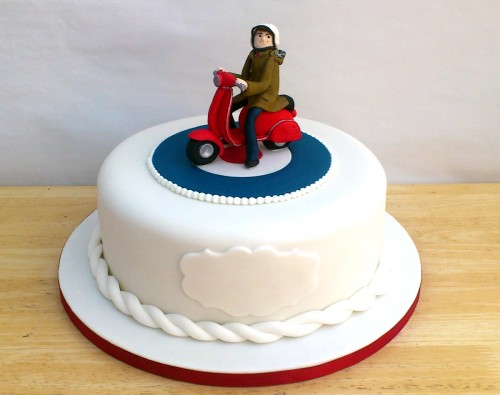 Mod Vespa Theme Novelty Birthday Cake Sponge Poole Dorset Main