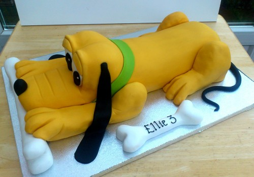 Pluto Inspired Novelty Birthday Cake