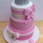Princess Tiara 3 Tier Birthday Cake