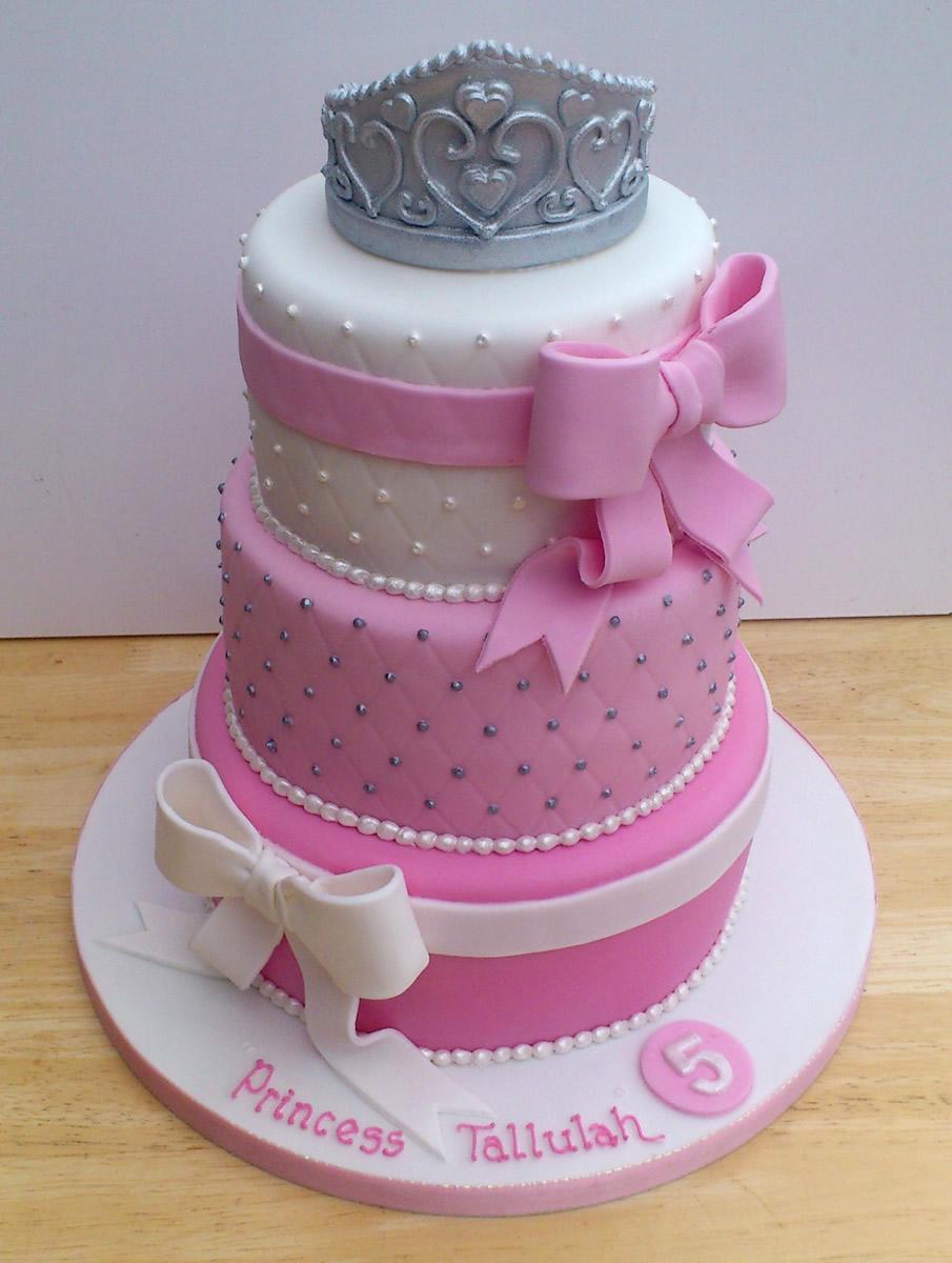Princess Tiara 3 Tier Pretty Birthday Cake 171 Susie S Cakes