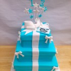 3 Tier Tiffany Inspired Birthday Cake