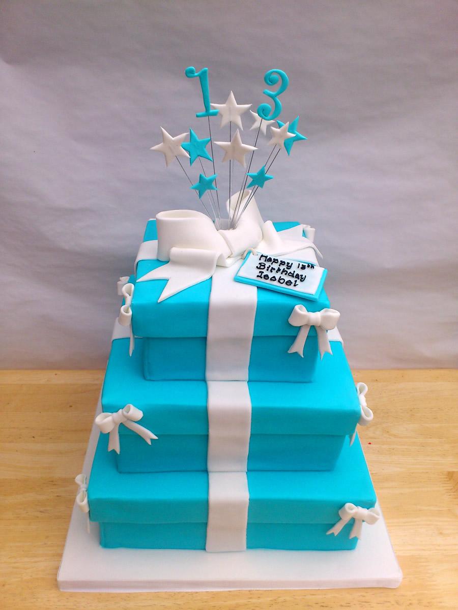 Astonishing 3 Tier Stacked Tiffany Inspired Birthday Cake Susies Cakes Funny Birthday Cards Online Benoljebrpdamsfinfo