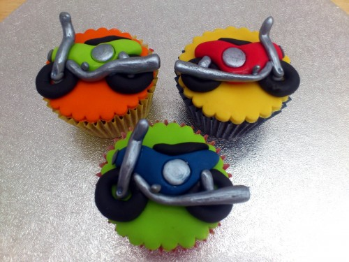 Toy Cars Bikes Bus Lorry Novelty Cupcakes