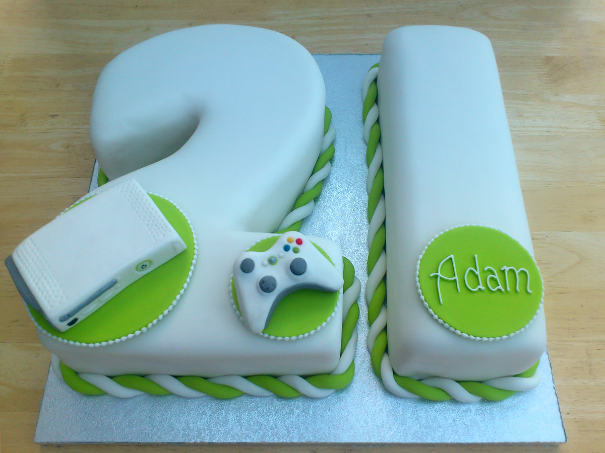 Xbox 360 White Inspired 21st Birthday Cake