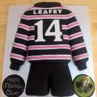 abingdon school rugby team shirt novelty cake