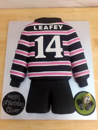 abingdon school rugby team shirt novelty cake