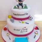 leisure centre themed novelty cake