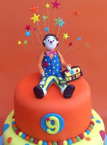 mr tumble inspired novelty 2 tier birthday cake