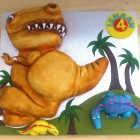 t-rex dinosaur and friends novelty birthday cake