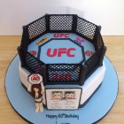 ufc themed novelty birthday cake