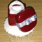 engagement ring in a box novelty cupcake