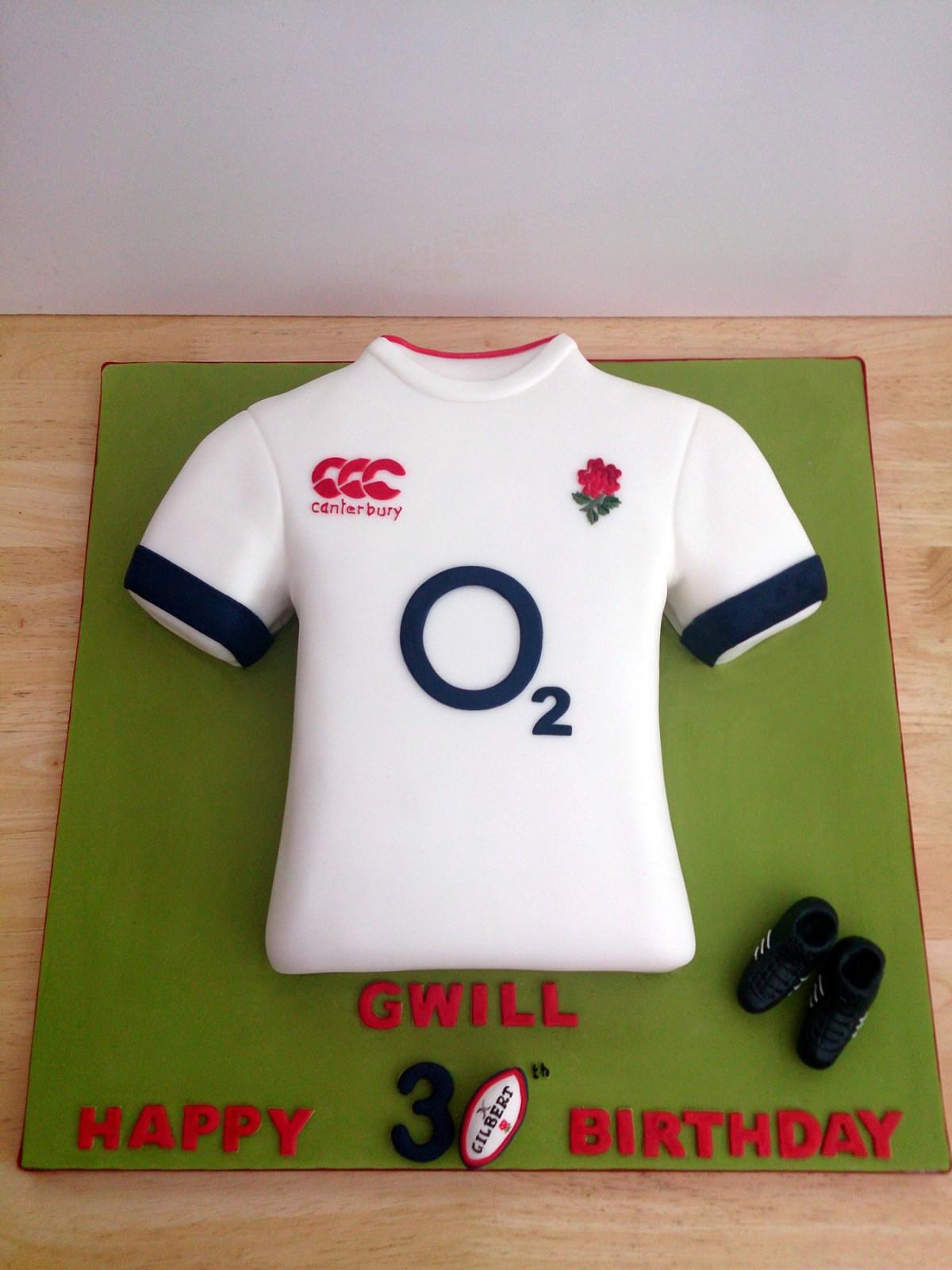 England Rugby Shirt Cake