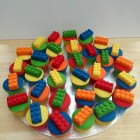 lego block themed novelty cupcakes