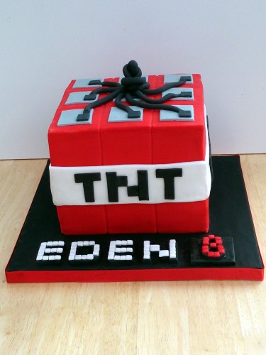 minecraft tnt novelty birthday cake