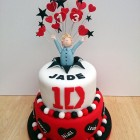 one direction 2 tier featuring niall novelty birthday cake