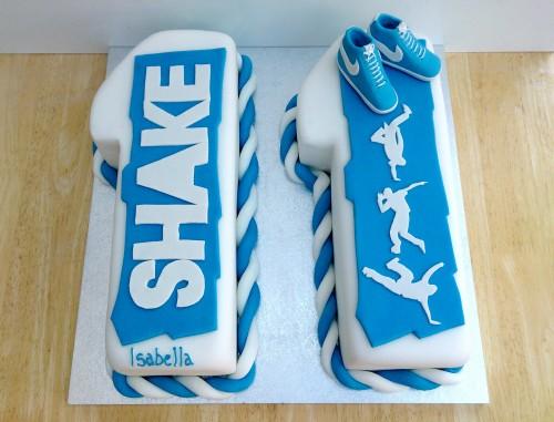shake street dance themed novelty birthday cake