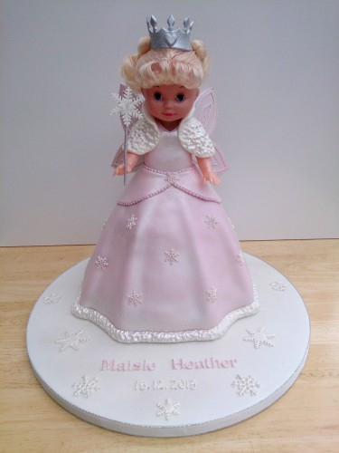 snow fairy princess novelty christening birthday cake