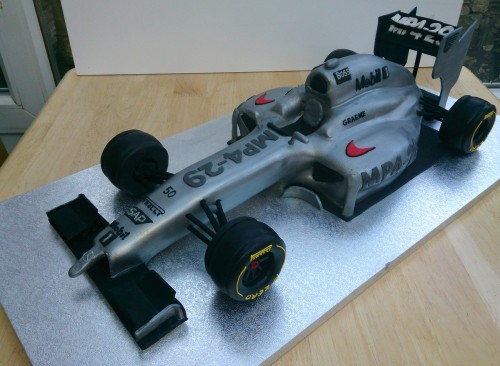 mclaren f1 2014 racing car novelty birthday cake