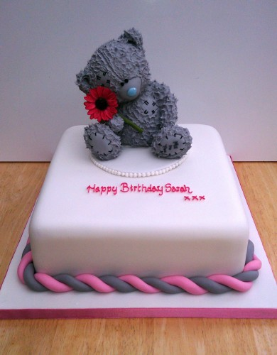 me to you bear with flower novelty birthday cake