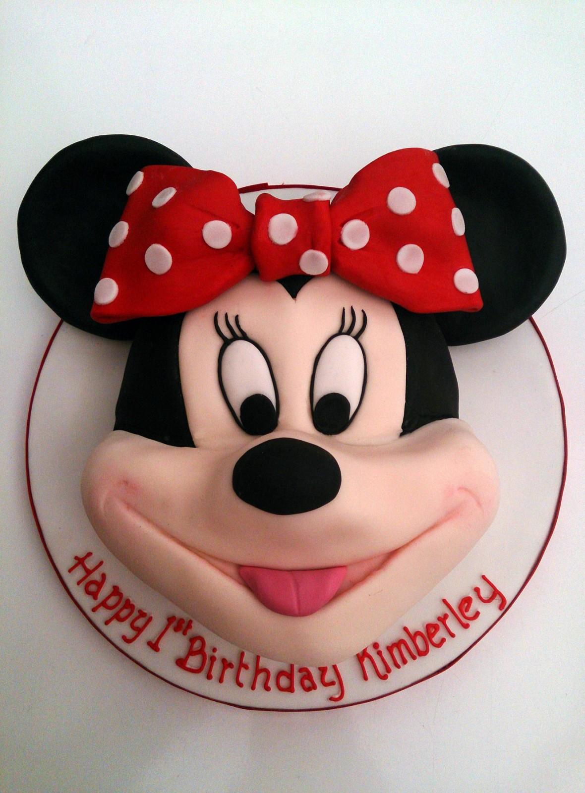 Fantastic Minnie Mouse Head Birthday Cake Susies Cakes Funny Birthday Cards Online Alyptdamsfinfo