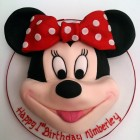 minnie mouse head novelty birthday cake