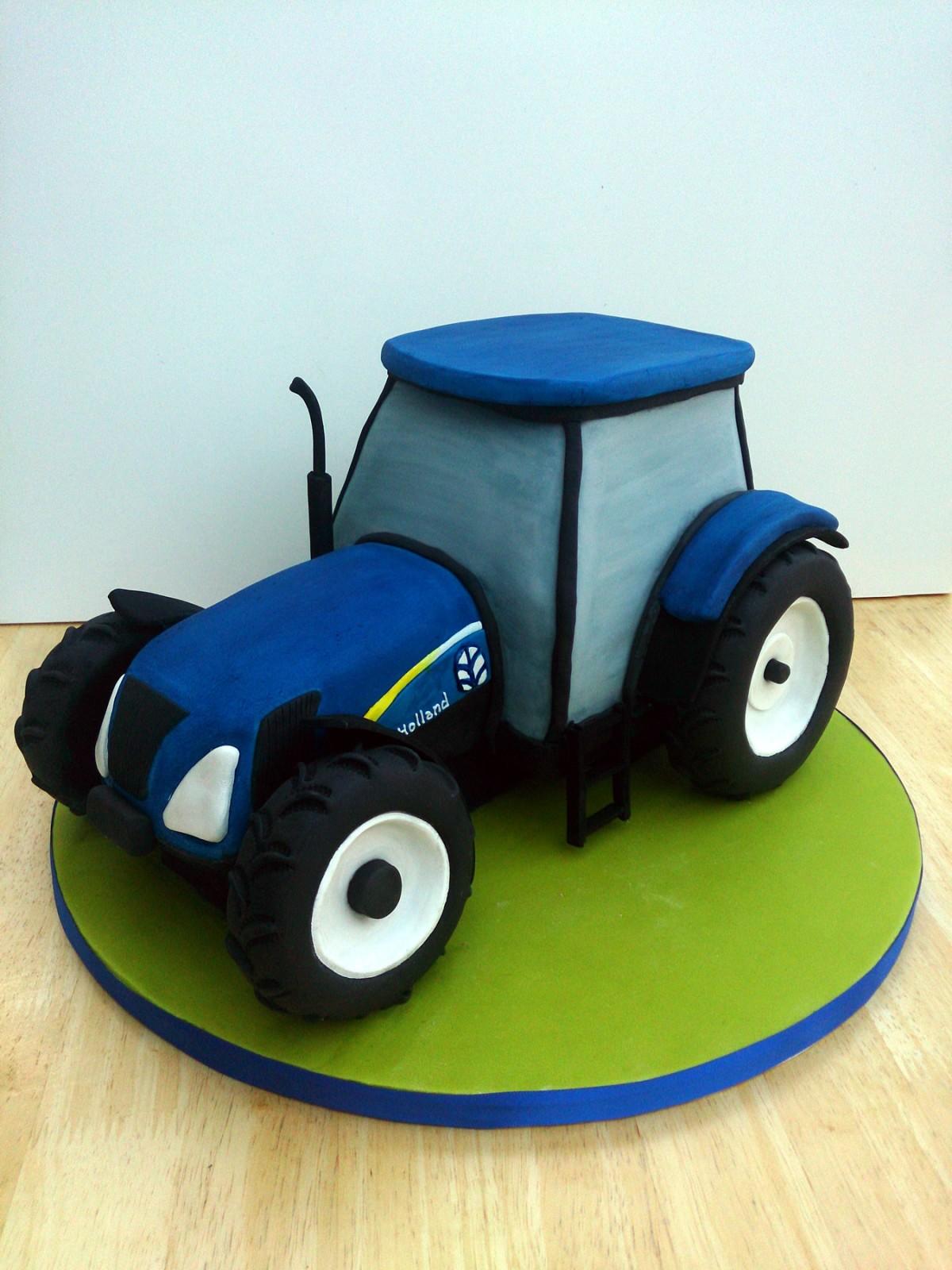 New Holland Tractor Novelty Birthday Cake