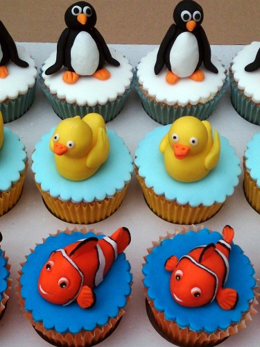 penguin rubber duck nemo novelty cupcakes