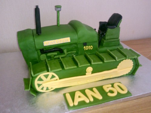 1964 john deere tractor with tracks novelty cake