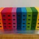 Novelty multicoloured filing cabinets cake